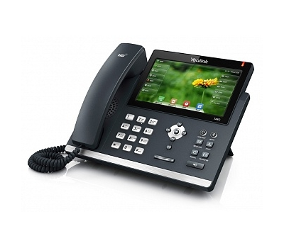 SIP-телефон Yealink SIP-T48S цветной сенсорный экран, 16 аккаунтов, BLF, PoE, GigE, без БП